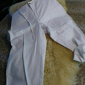 sale $10 Field Gear cropped linen pants sz xl NWT